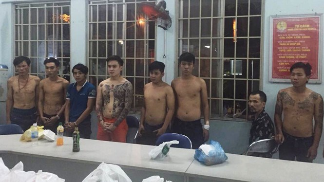 The suspects who allegedly extorted protection fee from sex workers. Photo provided by the police