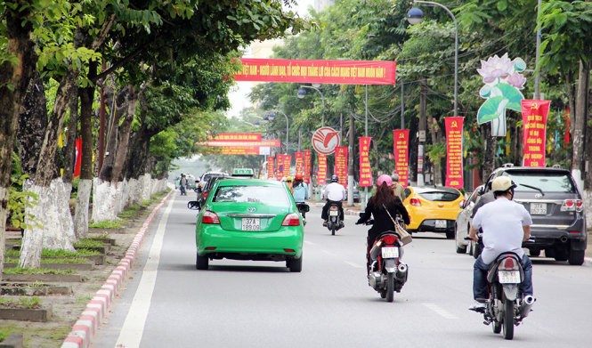 A part of Nghe An's capital town Vinh. Photo credit: Doan Hoa/Tuoi Tre