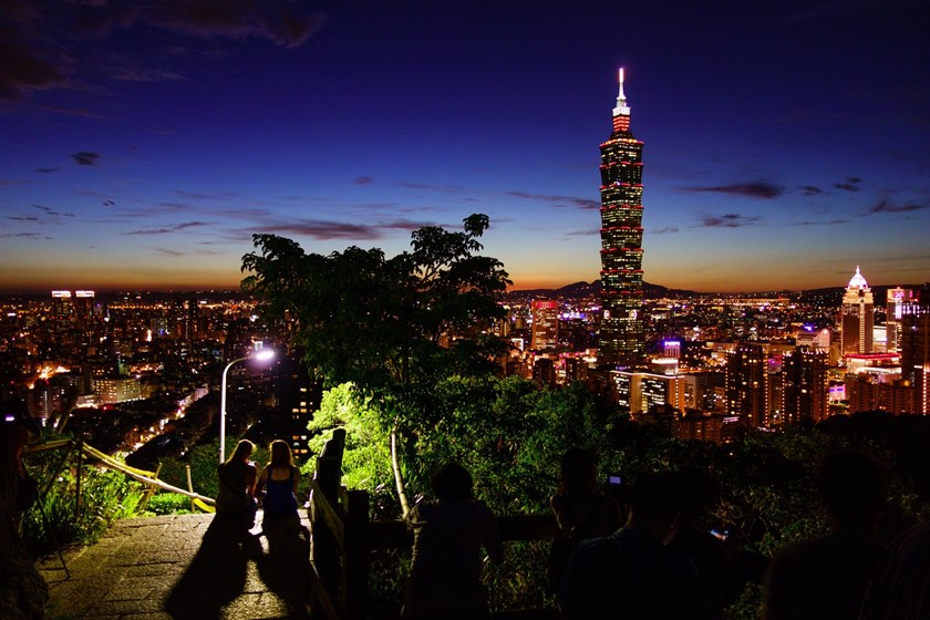 Taipei at night.