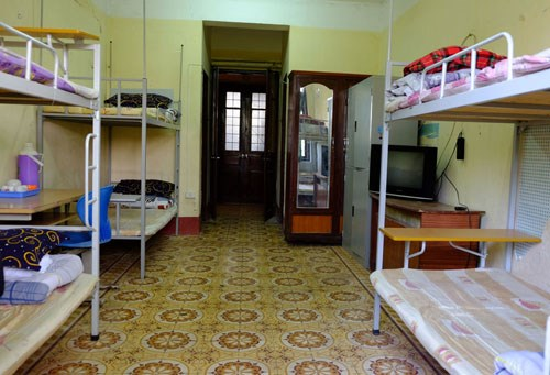 A dormitory room at the National Economics University that will be open to the homeless until February 15. Photo: Quynh Trang/VnExpress