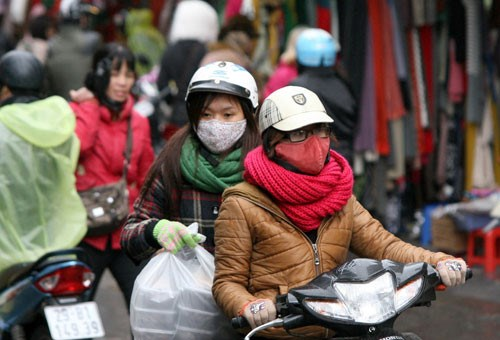 A heavy cold spell will hit Hanoi and the northern highlands from February 14, according to national weather forecast. Photo: Ngoc Thang