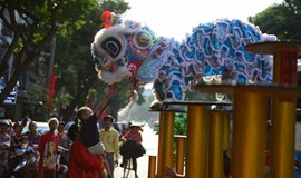 Saigon streets come back to life after holiday with lucky lion dances