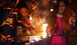 Catching fire: Hanoi villagers bring home some luck with flaming ritual