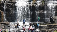 Pongour Falls near Da Lat, where a Belarusian tourist has been missing from a swim on February 28. File photo