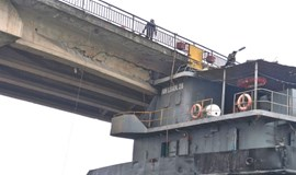 Ship hits bridge in northern Vietnam; collapse risks mounting