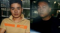 Nguyen Van Nhat (L) and Ngo Quang Phuoc have been jailed in Singapore for stealing $350,000 from a fruit shop. Photo credit: Straitstimes.com