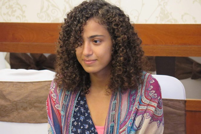 Egyptian tourist Alaa Mohammad Abdu Ali Aldoh at a news conference in Ho Chi Minh City on March 16, 2016 as she receives apology from the city officials over a recent street robbery. Photo: Trung Hieu
