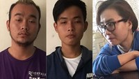 The three suspects behind an acid attack in Ho Chi Minh City on March 30 have been arrested. Photo credit: Tuoi Tre