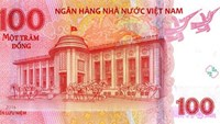 The VND100 note that will be issued on May 6, 2016 as a souvenir. Photo credit: State Bank of Vietnam