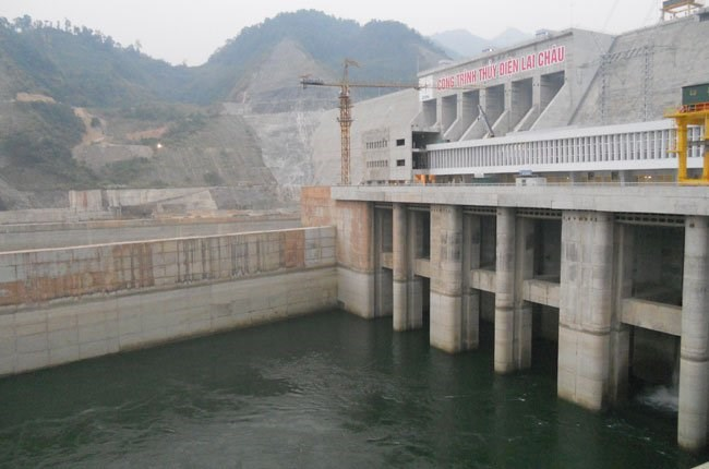 A hydropower plant in Lai Chau Province in northern Vietnam that will start running in late 2016. Photo credit: Van Nam/Saigon Times Online