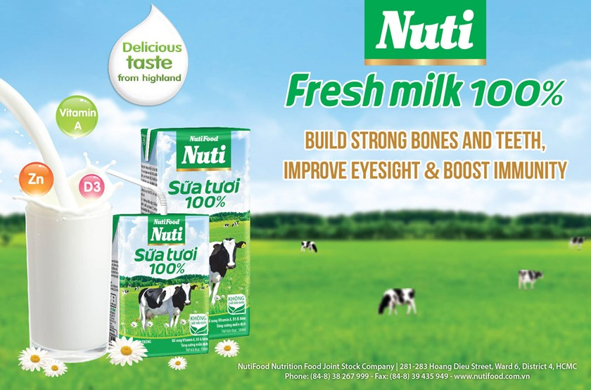 Nuti Fresh Milk 100% - Delicious taste from the highland