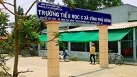 A primary school in Bac Lieu Province where the principal has been accused of molesting two fifth graders. Photo: Tran Thanh Phong