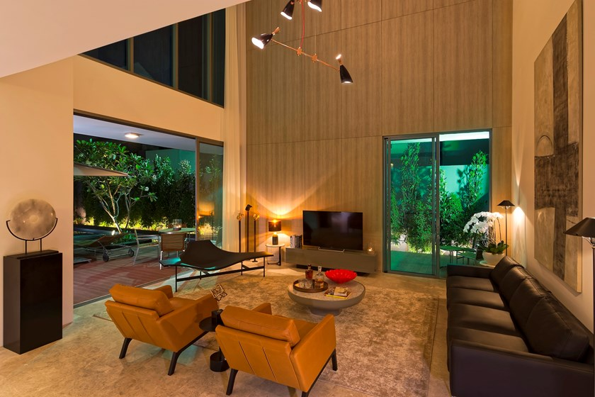 A living room at HOLM Residences