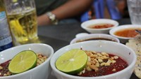 Raw blood pudding is a Vietnamese specialty and has proved to be a risky one. Photo: Vu Phuong