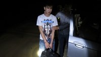 Ly Hoa Vinh was arrested early on May 27 with six kilograms of meth on his way to Hanoi. Photo credit: Tien Phong