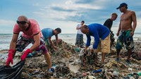 Foreigners help clean up Vietnam beach after shocking photo