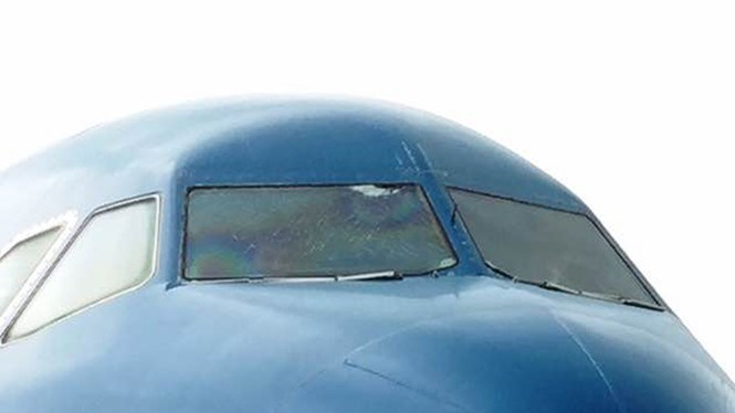 A Vietnam Airlines flight from Hanoi to Can Tho has to make landing at Ho Chi Minh City's Tan Son Nhat International Airport  on June 21, 2016 after the crew find cracks in a cockpit window. Photo: To Ha
