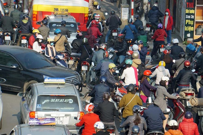 Hanoi now has around five million motorbikes. Photo: Ngoc Thang/Thanh Nien