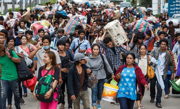 Migrant workers in Thailand. Photo credit: Reuters