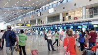 At Da Nang International Airport. Photo: Nguyen Tu/Thanh Nien