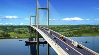 An artist impression of the new bridge between Ho Chi Minh City and Dong Nai Province
