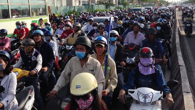 Vietnam has more than 46 million motorbikes and half of that concentrate in the five largest cities. Photo: Tan Phu