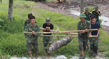 Man finds 225-kg Vietnam War bomb in backyard