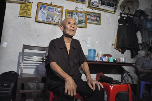 Tran Van Them, who was just cleared of a murder conviction, at his house in Bac Ninh Province. Photo: Thuy Hang