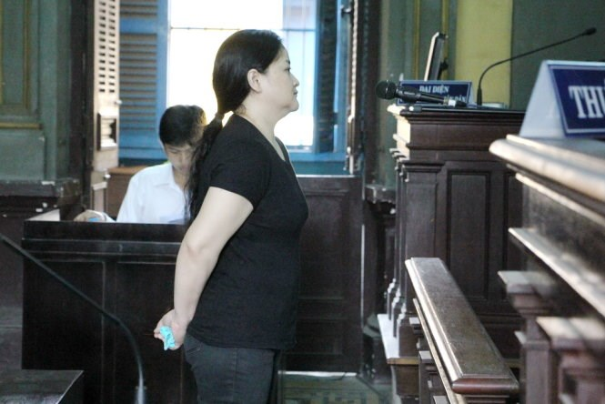 Donna Buena Mazon, 41, at a trial in Ho Chi Minh City for drug smuggling. Photo: Minh Bang/Tuoi Tre