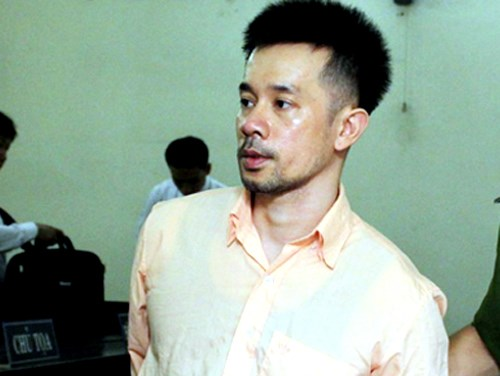 Pham Trung Dung stands trial in Ho Chi Minh City August 24 for drug smuggling. Photo credit: VnExpress