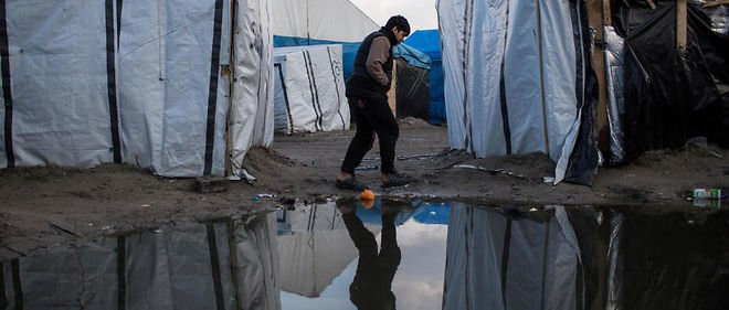 Calaise Jungle, a refugee camp in northern France. Photo credit: AFP