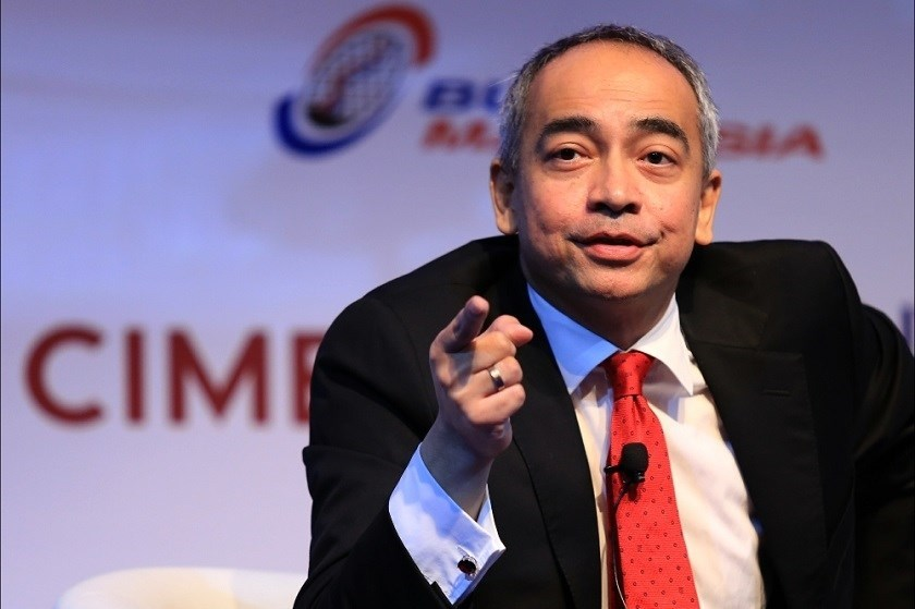 CIMB Group Chief Executive Nazir Razak speaks about the bank's expansion plan. Photo credit: Reuters