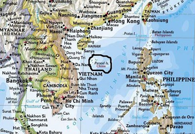 National geographic maps support occupation of vietnamese islands a national geographic map that labels vietnams hoang sa paracel islands as part of china photo from national geographic maps website gumiabroncs Choice Image