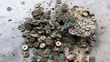 Ancient Coins Found In The Backyard Of A House Nghe An Province North Central Vietnam Photo Courtesy Tuoi Tre