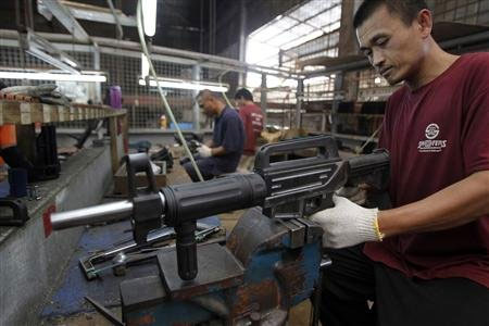 Philippine gun makers take aim from the backyard to the production line