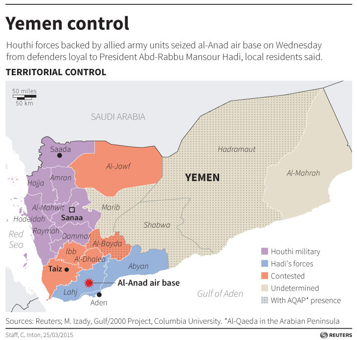 Saudi Arabia, allies launch air campaign in Yemen against Houthi fighters