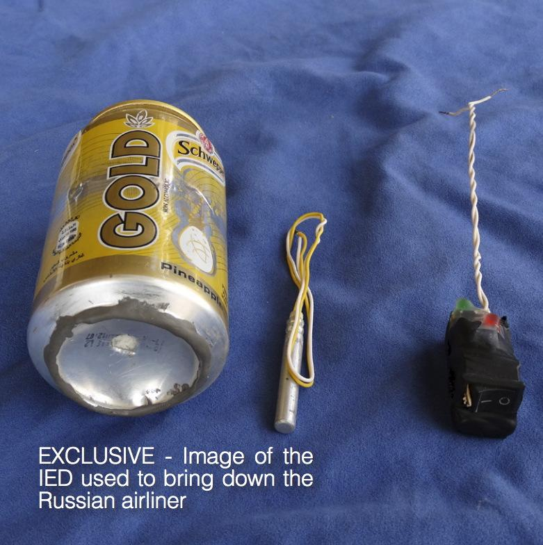 Islamic State shows photo of Russian plane bomb