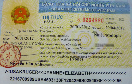 Vietnam visa on arrival for foreigners