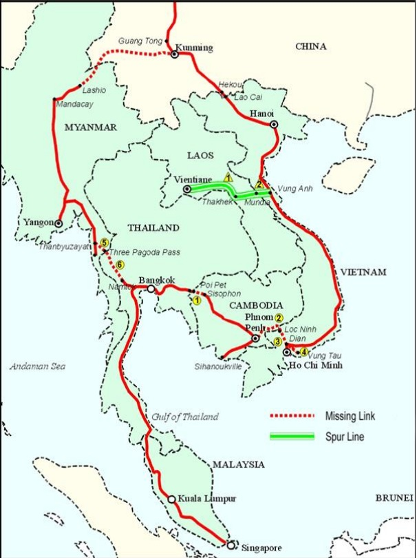 Vietnam To Add New Line Chinasoutheast Asia Rail Work: China Laos Railway Map At Infoasik.co