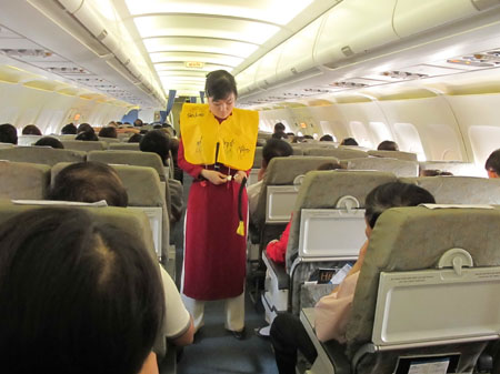 Vietnam Airlines staff can only carry small bags to prevent smuggling