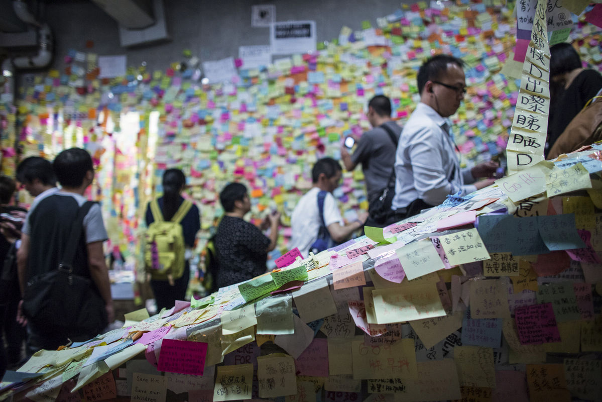 Hong Kong protesters tell Xi they don't want a revolution