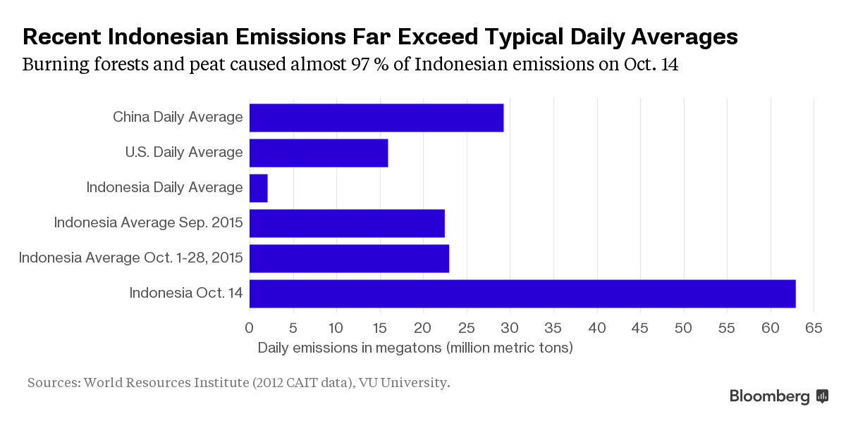 How Indonesia's fires made it the biggest climate polluter