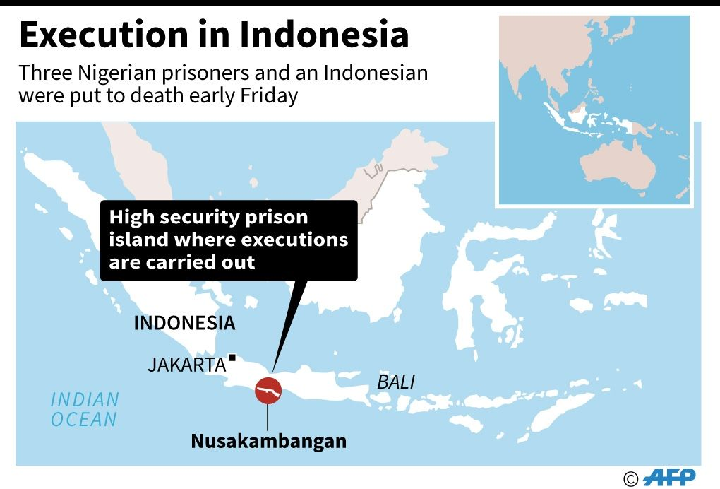 Indonesia executes foreign convicts despite protests
