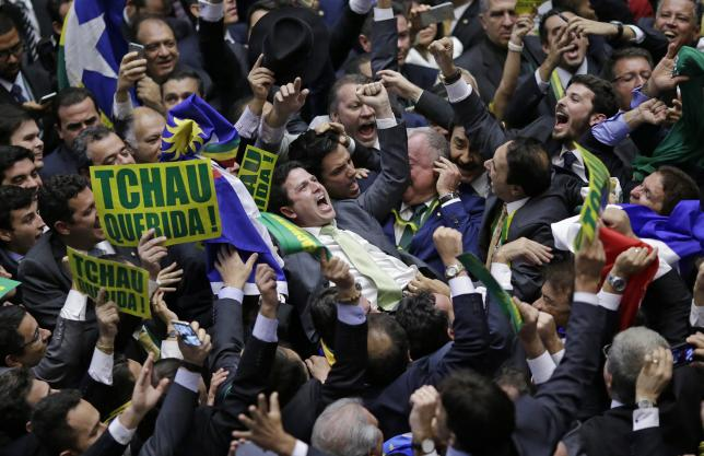 Brazil's Rousseff vows to fight on after impeachment defeat World