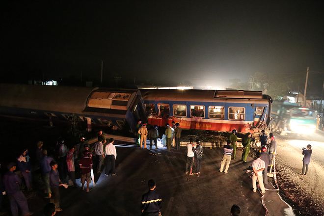 Train driver killed in crash with truck in central Vietnam
